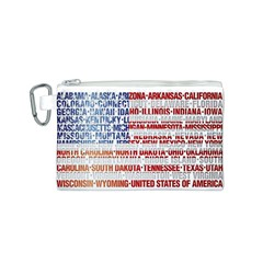 USA States Flag Canvas Cosmetic Bag (S)