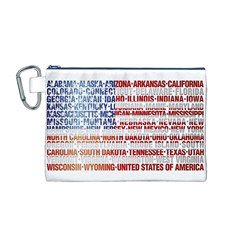 USA States Flag Canvas Cosmetic Bag (M)