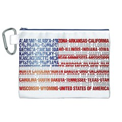 USA States Flag Canvas Cosmetic Bag (XL)