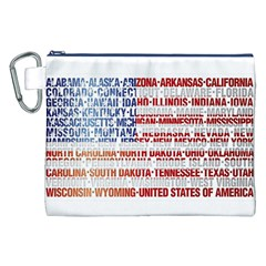 USA States Flag Canvas Cosmetic Bag (XXL)