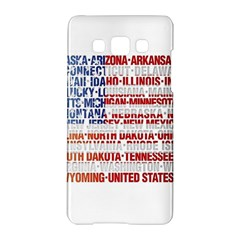 USA States Flag Samsung Galaxy A5 Hardshell Case