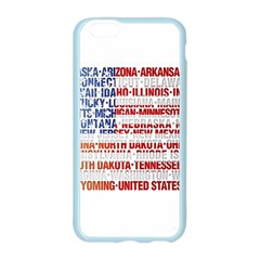 USA States Flag Apple Seamless iPhone 6 Case (Color)
