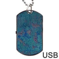 Urban Background Dog Tag USB Flash (One Side)