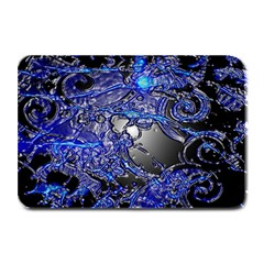 Blue Silver Swirls Plate Mats