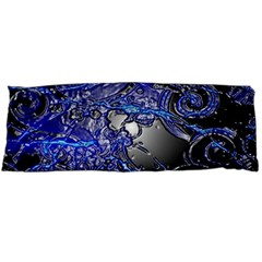 Blue Silver Swirls Body Pillow Cases (dakimakura)