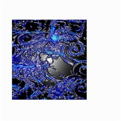 Blue Silver Swirls Large Garden Flag (Two Sides)