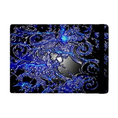 Blue Silver Swirls iPad Mini 2 Flip Cases