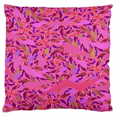 Bright Pink Confetti Storm Large Flano Cushion Cases (Two Sides)