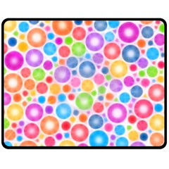 Candy Color s Circles Fleece Blanket (medium)