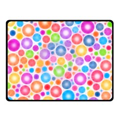 Candy Color s Circles Double Sided Fleece Blanket (small)