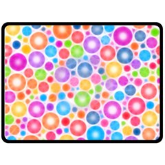 Candy Color s Circles Double Sided Fleece Blanket (Large)