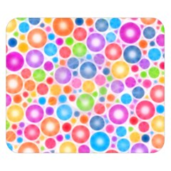 Candy Color s Circles Double Sided Flano Blanket (Small)
