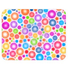 Candy Color s Circles Double Sided Flano Blanket (Medium)