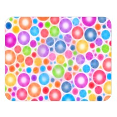 Candy Color s Circles Double Sided Flano Blanket (Large)