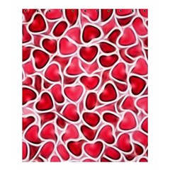 Candy Hearts Shower Curtain 60  X 72  (medium)