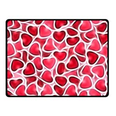Candy Hearts Double Sided Fleece Blanket (small)