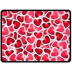 Candy Hearts Double Sided Fleece Blanket (Large)