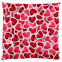Candy Hearts Large Flano Cushion Cases (one Side)