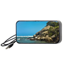 Tropical Beach Of Tayrona National Park Portable Speaker (black)