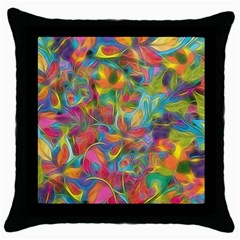 Colorful Autumn Throw Pillow Cases (black)