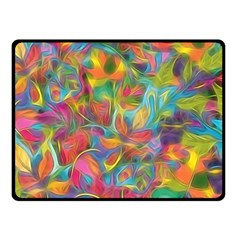 Colorful Autumn Fleece Blanket (small)