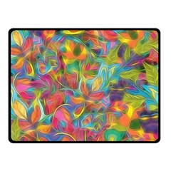 Colorful Autumn Double Sided Fleece Blanket (small)