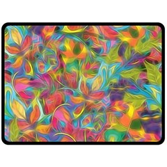 Colorful Autumn Double Sided Fleece Blanket (Large)