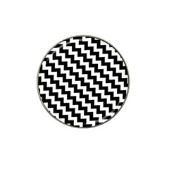 Black And White Zigzag Hat Clip Ball Marker (10 Pack)