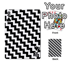 Black And White Zigzag Playing Cards 54 Designs