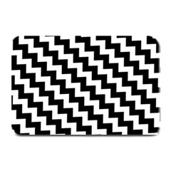 Black And White Zigzag Plate Mats