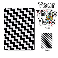 Black And White Zigzag Multi-purpose Cards (Rectangle)