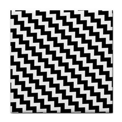 Black And White Zigzag Face Towel