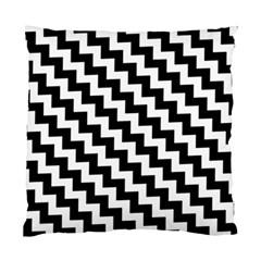 Black And White Zigzag Standard Cushion Case (one Side)