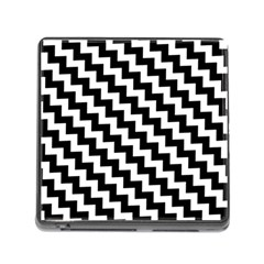 Black And White Zigzag Memory Card Reader (square)