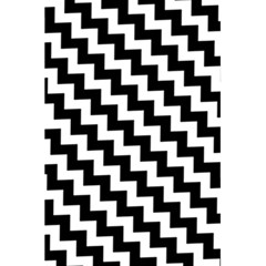 Black And White Zigzag 5 5  X 8 5  Notebooks