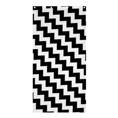 Black And White Zigzag Shower Curtain 36  x 72  (Stall)