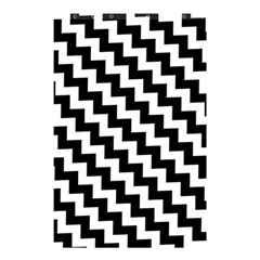 Black And White Zigzag Shower Curtain 48  X 72  (small)