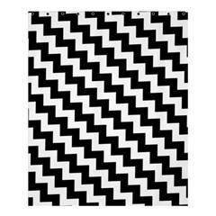 Black And White Zigzag Shower Curtain 60  X 72  (medium)