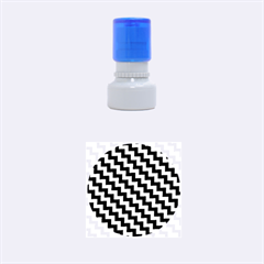 Black And White Zigzag Rubber Round Stamps (Small)