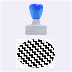 Black And White Zigzag Rubber Oval Stamps