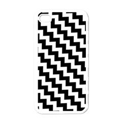 Black And White Zigzag Apple Iphone 4 Case (white)