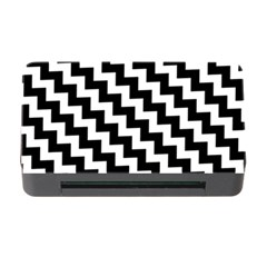 Black And White Zigzag Memory Card Reader with CF