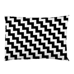 Black And White Zigzag Pillow Cases (Two Sides)