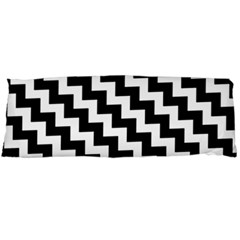 Black And White Zigzag Body Pillow Cases Dakimakura (two Sides)