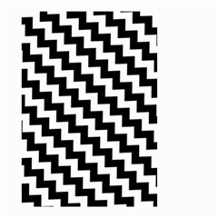 Black And White Zigzag Small Garden Flag (Two Sides)