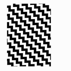 Black And White Zigzag Large Garden Flag (Two Sides)