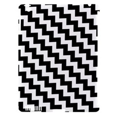 Black And White Zigzag Apple Ipad 3/4 Hardshell Case (compatible With Smart Cover)