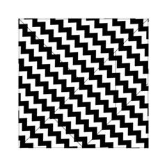 Black And White Zigzag Acrylic Tangram Puzzle (6  X 6 )