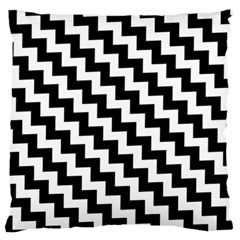Black And White Zigzag Large Cushion Cases (two Sides)