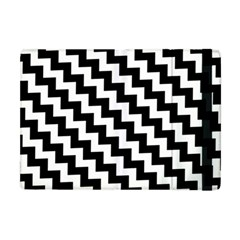 Black And White Zigzag Apple Ipad Mini Flip Case